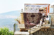 En sukka i Tsfat bygget under Sukkot for at mindes dengang det jødiske folk flygtede fra Egypten.
