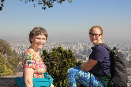 Udsigt over Santiago fra Cerro San Cristobal
