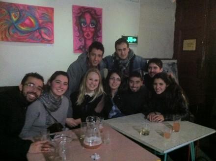 Fællesbillede med søde venner på sidste aften i byen.