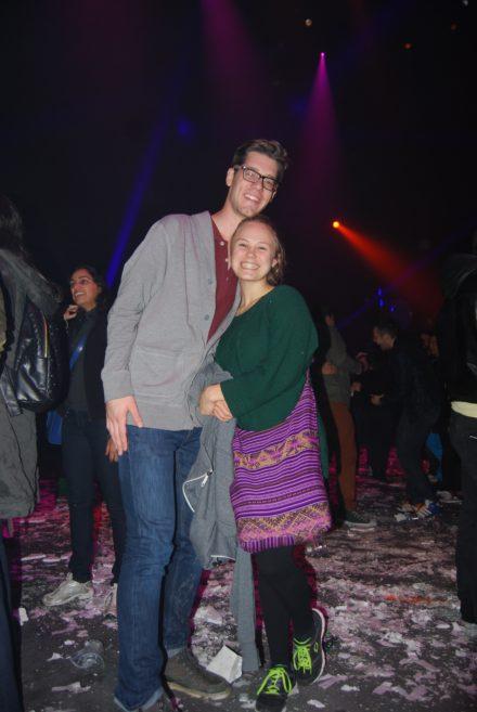 Bobby og jeg efter showet. Jeg er 1.60 og han er omkring 2 meter. Jaja.