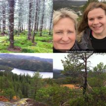 Weekend tur i hytten med smuk fredfyldt natur og fjeldture